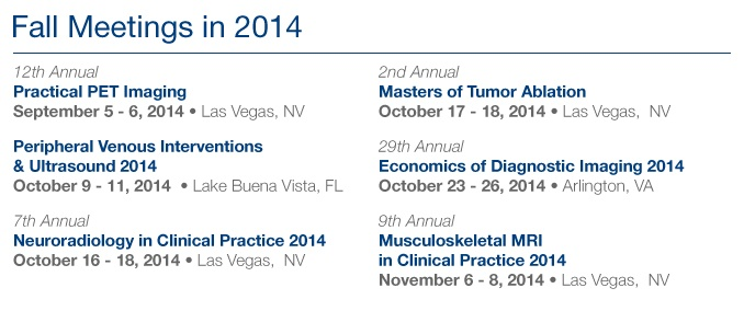 Register Today - Fall 2014 Meetings