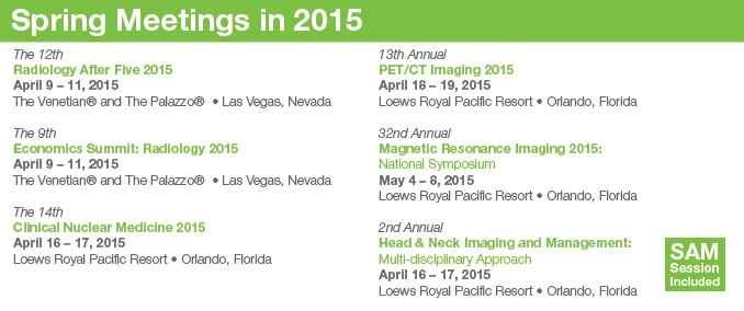 Register Today - Spring 2015 Meetings