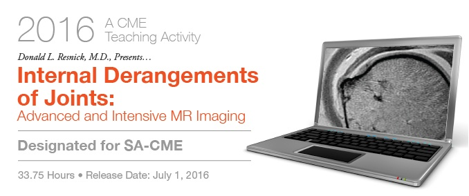 2016 Internal Derangements of Joints: Advanced and Intensive MR Imaging