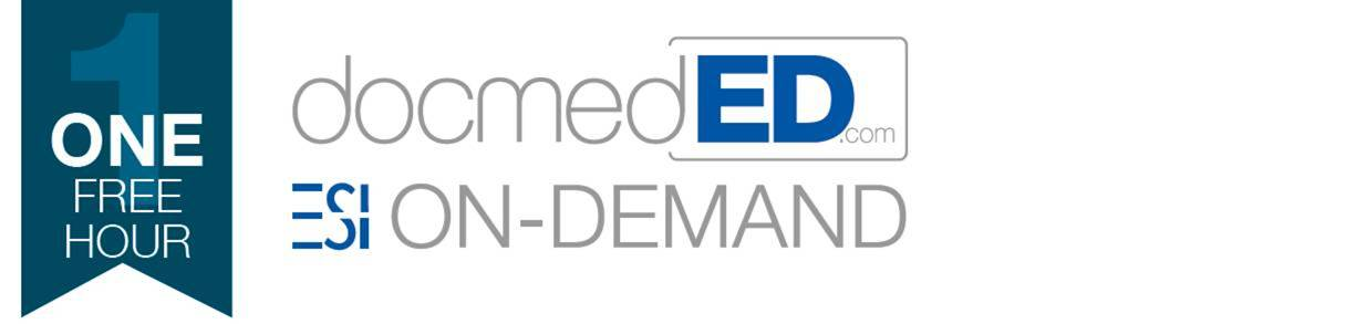 1 Free Hour at docmedED.com and ESI On-Demand Product